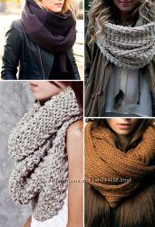 Вязаный шарф снуд, ручная вязка  В НАЛИЧИИ