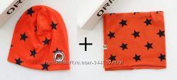 Набор шапка и хомут, 4 цвета