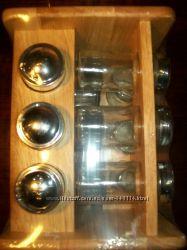 Наборы для специй на деревянной подставке