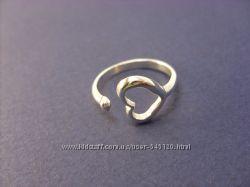 Серебряное безразмерное колечко