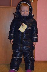 детский пуховик Moncler, очень теплый,