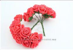Роза латексная 2см 12шт
