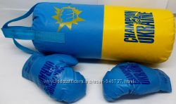 Боксерский набор Украина груша, перчатки 2 вида для детей и подростков