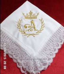 носовые платочки машинная вышивка