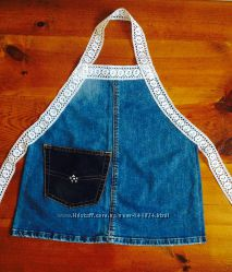 Фартуки из джинса детский ручная работа