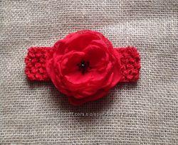 Красная повязка для девочек