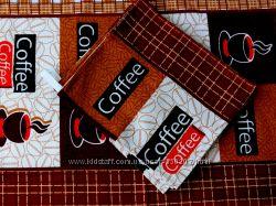 Полотенца КОФЕ, коричневые