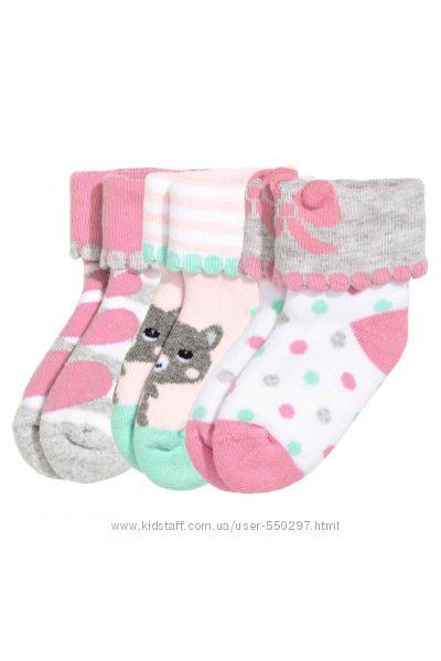 Носочки махровые H&M для девочки