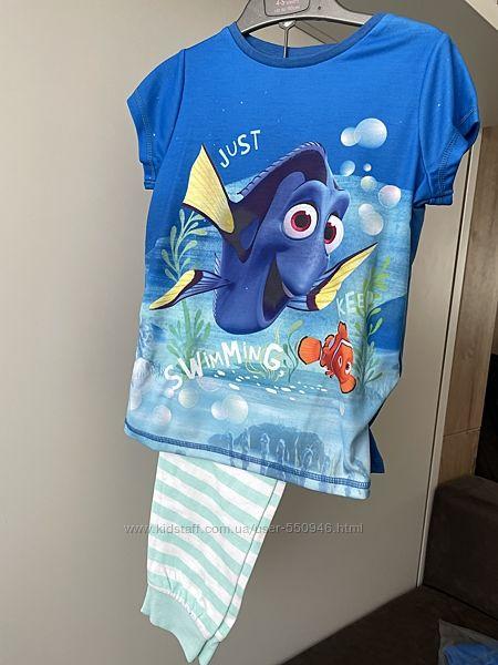 Пижамы Mothercare рыбка Дори, 3-4, 4-5, 5-6 лет, новые, есть замеры