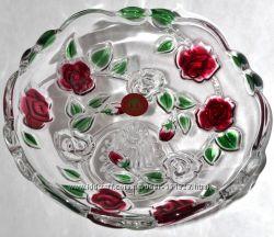 Ваза кофетница WALTER GLASS Германия. Декоративное стекло ручной работы