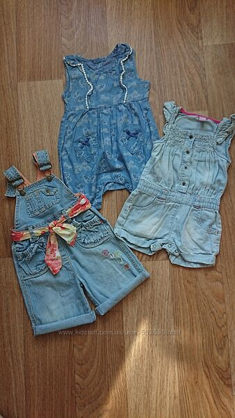 Ромперы джинсовые на девочку.