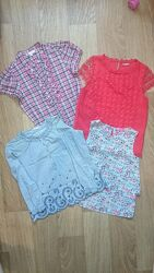 Блузки школьные H&M, LC Waikiki на девочку 7-10лет.