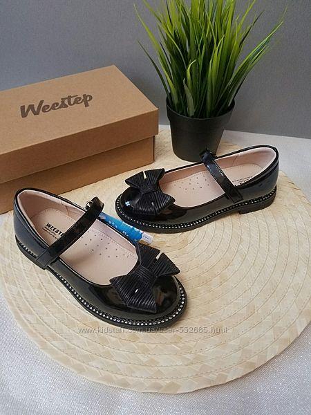 Туфли для девочки черные нарядные Weestep 29 30 31 32 33