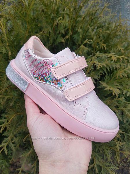 Слипоны туфли для девочки TOM. M 28 29 30 31 32 33