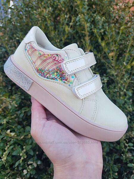 Слипоны туфли кеды для девочки кремовые TOM. M 28 29 30 31 32 33