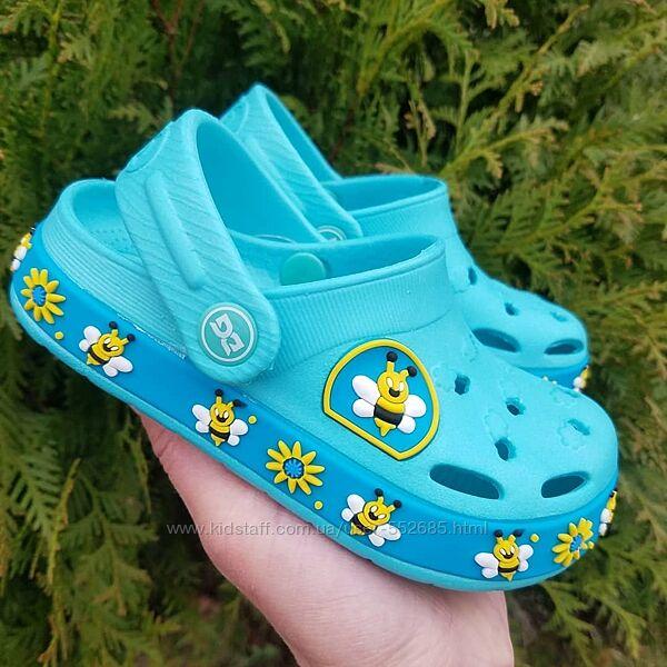 Кроксы сабо шлепанцы для девочки голубые