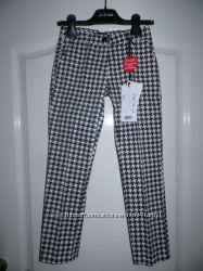 Cатиновые брюки  Monalisa, линия Jakioo. Бело-черные.  8 лет,