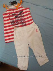 Трикотажный летний костюмчик Geox на 4 года топик и бриджи
