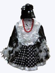 Прокат карнавальный костюм сорока для девочки, р. 110-116, 122-128