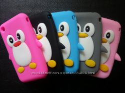 Чехол пингвин Силиконовый Iphone 3, 3S