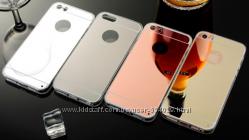 Зеркальные силиконовые чехлы iphone 4 4S 5 5S 6 6S 7 7пл 8 8пл