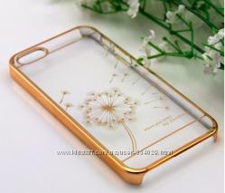Чехол пластиколвый Clear для Iphone 55s