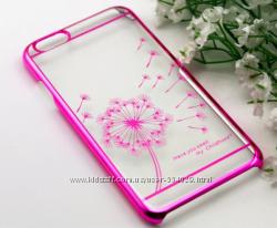 Чехол пластиколвый Clear для Iphone 5 5s три цвета
