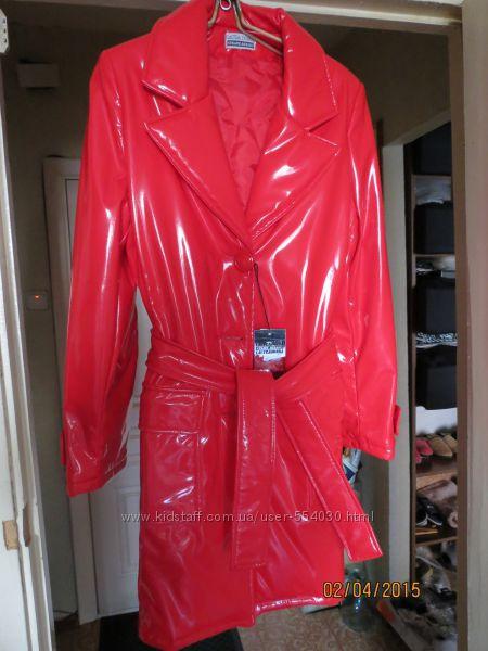 Кожаный плащ женский италия лакированная сумка под hermes