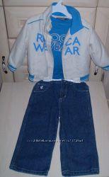 Rocawear Набор 3 в 1 легкая куртка, реглан джинсы