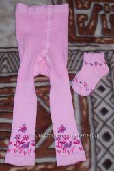 Лосины и носочки для девочки до 2 лет