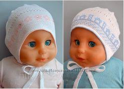 Новые вязаные шапочки из хлопка для малышей