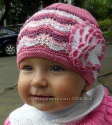 Шапочка новая для девочек 1-2 года, очень красивая и недорого