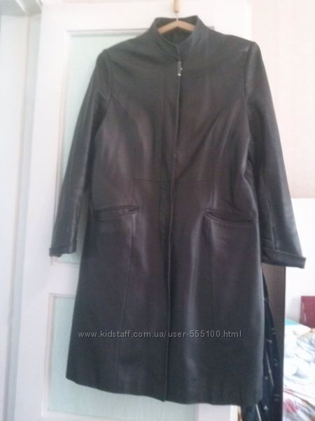 Кожаный плащ, размер 50-52