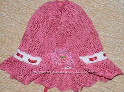 Ажурные шапочки для девочек  деми и лето.