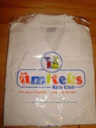 Белые школьные рубашки-поло для мальчиков рост от 158 до 176