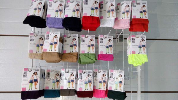 Яркие капроновые колготки с микрофиброй, 50 ден, для девочек Распродажа