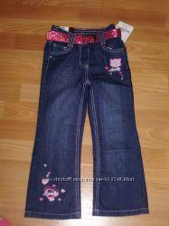 Новые джинсы для девочки, разм 110 -116