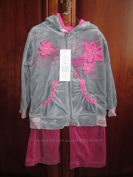 Велюровый спортивный костюм для девочки  Карен из Польши, разм. 104