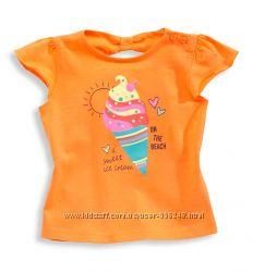 Яркие футболки для девочек от C&A, размер 86 и 92