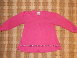 Розовая туничка с длинным рукавом E-vie Angel на девочку 1, 5-2 года.