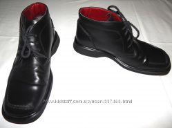 Черные кожаные мужские ботинки Clarks. Размер 9 43.