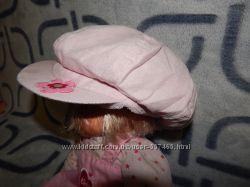 Флисовая розовая кепочка TU на девочку 1-2-х лет.