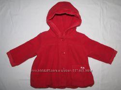 Красная курточка-пальто с капюшоном George на девочку до 1 годика.