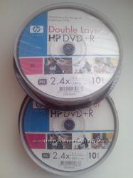диски DVDR 8. 5Gb HP 10 шт.