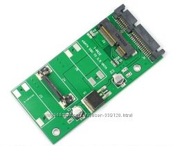 Переходник SATA - mSATA mini PCIe SSD 50 мм