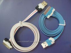 Плоский кабель USB для iPhone  iPad  iPod передача данныхзарядка