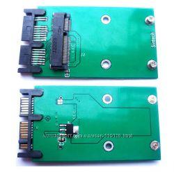 Переходник micro SATA - mSATA mini PCIe SSD