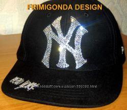 Хип-хоперские кепки со стразами Сваровски