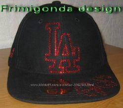 Хип-хоперская кепка L A со стразами Swarovski АКЦИОННАЯ ЦЕНА