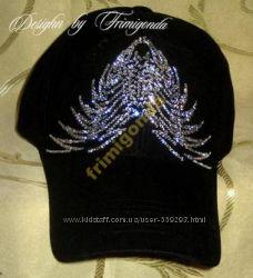 Стильные кепки со стразами Swarovski
